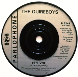 "Quireboys (The) ‎- Hey You (7"") (G+/NM)"